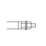 trzpień grzałki rurkowej z gwintem M4, M5